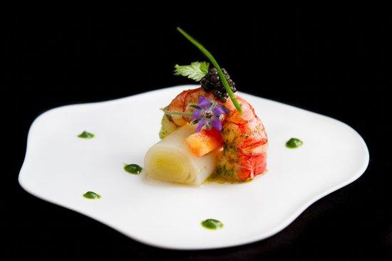 L'Epuisette: Gamberoni Poireau Caviar