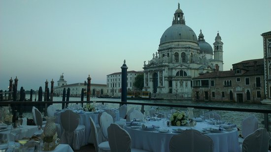 The Gritti Palace, A Luxury Collection Hotel: View from the restaurant in the evening