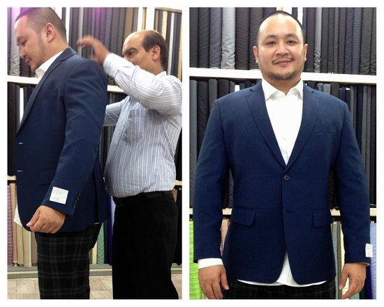Magnifique Tailor: I was too excited to take pic- I forgot to tug in the shirt and adjust the shirt's sleeves prope