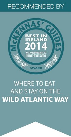 Edencrest Bed and Breakfast: Awarded by John and Sally McKenna of 'Where to eat and stay while on the Wild Atlantic Way Guide