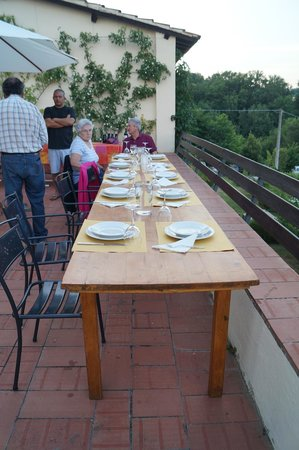 Villa Poggio Tre Lune : Dinner on the Terrace