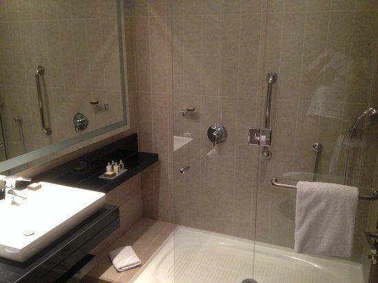Hilton Garden Inn Santiago Airport: modern bathroom
