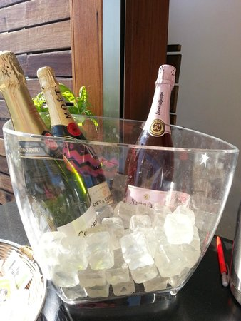 Hotel America Barcelona : Champagne on ice