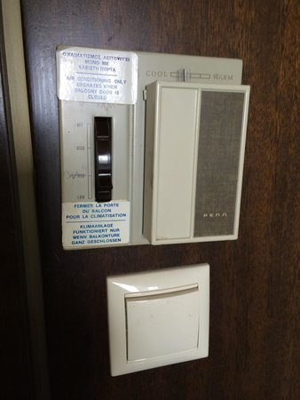 Corfu Holiday Palace: The air conditioning system! Antiquated & noisy, but it worked!