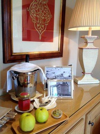 Gstaad Palace Hotel: kleiner Teil des Willkommensgeschenks