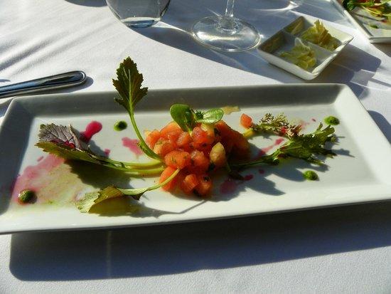 Moulin Wakefield Mill Hotel & Spa : La petite entrée offerte à tous; salade de pastèques