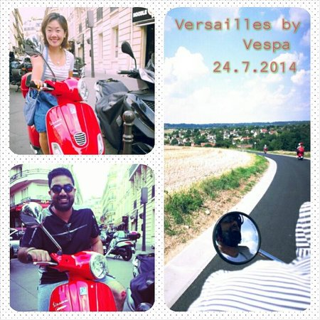 Left Bank Scooters : Versailles by Vespa