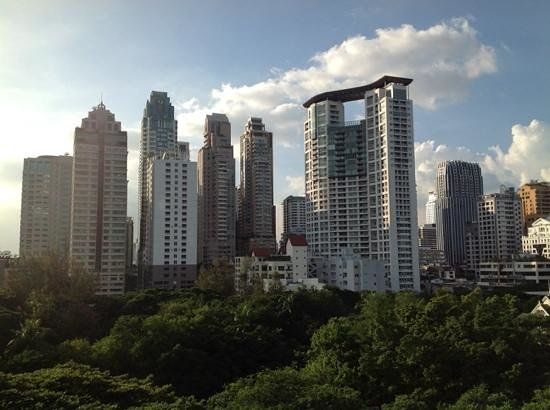 Oriental Residence Bangkok: vista su Bangkok dalla nostra suite