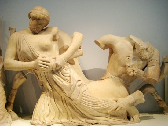 Archaeological Museum of Olympia: Lapiths and Centaurs from Temple of Zeus