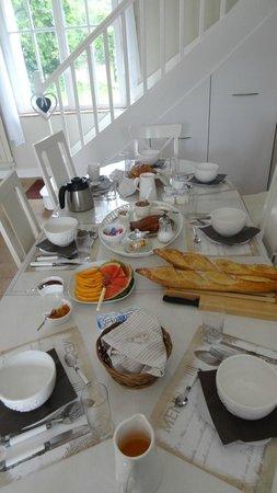 Chambres d'Hotes la Grenouillere: Petie dejeuner