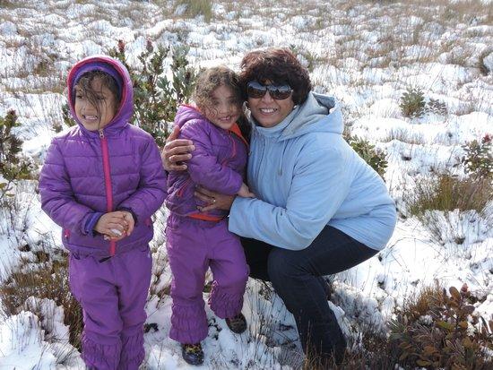 Protea Farm Tractor Trips: Enjoying the snow on the Langeberg mountains