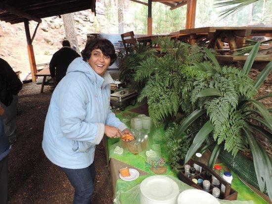 Protea Farm Tractor Trips: Enjoying the delicious potjiekos