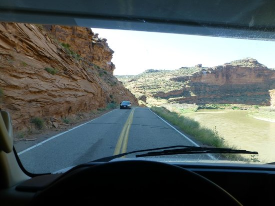 Scenic Byway of Highway 128: The highway parallels the Colorado River