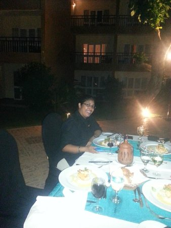 The Palms Hotel: special dinner with Ishani