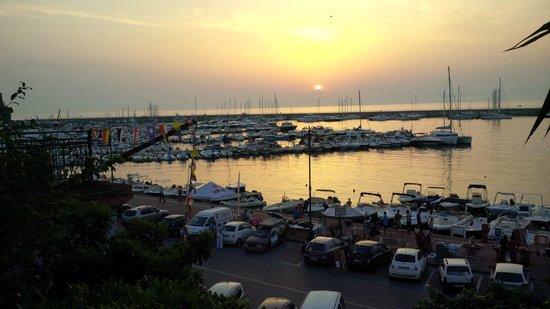 Palazzo Dogana Resort: Port at sunset
