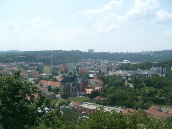 Spilberk Castle : view to the south west (Mendlovo namesti & brewery Starobrno)