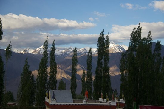 Hotel Pangong: View of mountains from room 302