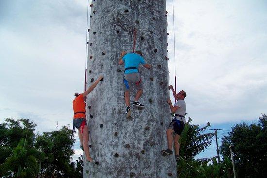 Andretti Thrill Park: rock climb