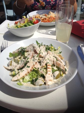 Signor Valentino Mermaid Quay: Chicken Caesar Salad and Lasagne