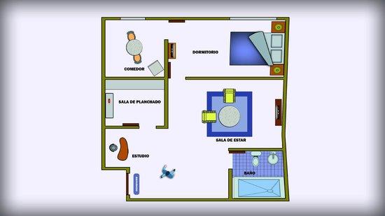 Plano habitacion fotograf a de apart hotel violetta 39 s for Plano habitacion online