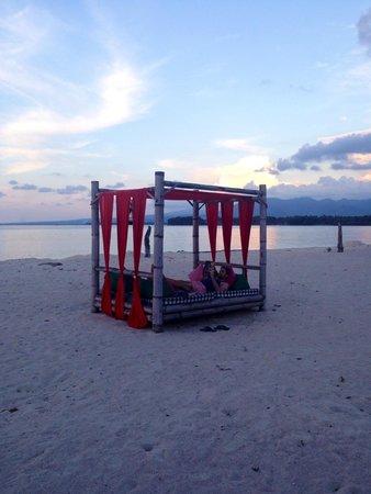 Hotel Tugu Lombok : Beautiful beach bed