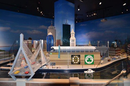 Legoland Discovery Center: TD Garden and Bunker Hill Bridge: Daytime