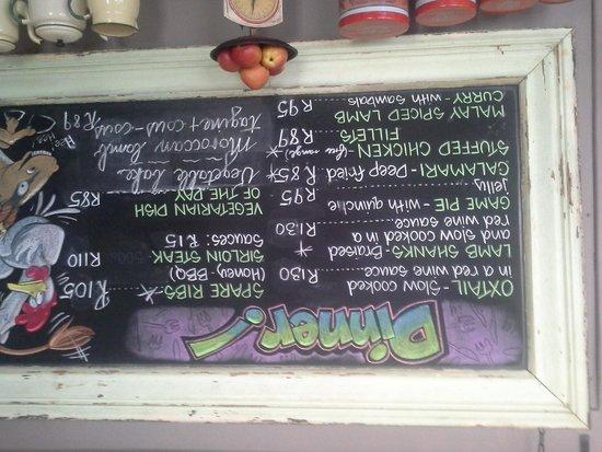 Abbey Rose: our menu