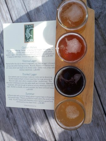 Trapp Family Lodge: Flight of Trapp Beers