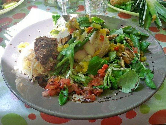 La p'tite parlotte : Cabillaud rôti avec légumes du soleil