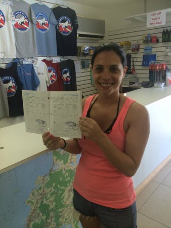 Scuba Fun Dive Center: Kelly and her Open Water Certification