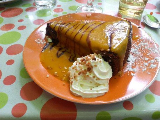 La p'tite parlotte : Fondant au chocolat avec coulis de mangue