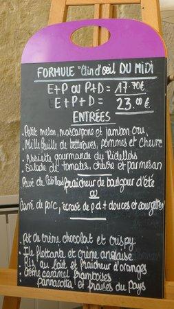 Restaurant Coté Cour : menu and set prices