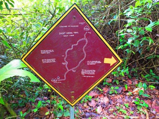 Blue Hole National Park: Sign