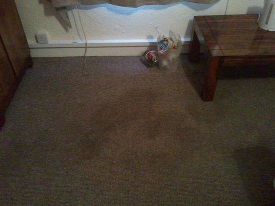 Great Western Hotel : Carpet stains, bin not emptied