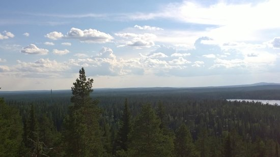 Ruka Suites: View from balcony toward valley