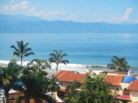 Velas Vallarta: View from balcony outside my room