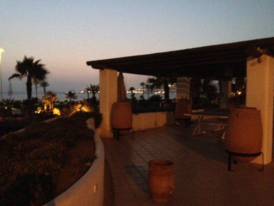 ClubHotel Riu Tikida Dunas : vue de la terrasse principale