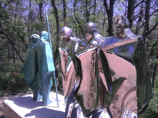 Overland Park Arboretum and Botanical Gardens: One of the sculptures