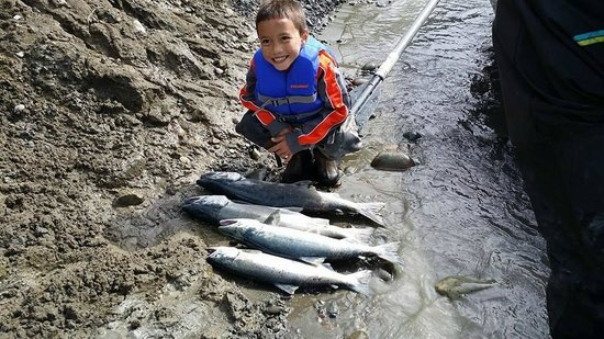 Chugach Backcountry Fishing - Day Trips: My grandson with the day's catch