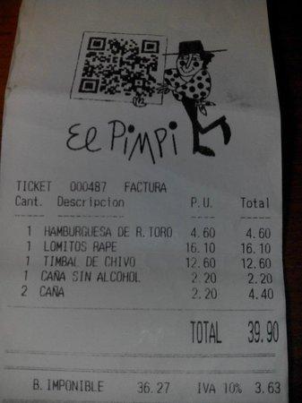 El Pimpi: Cena para dos. Muy bien, para repetir.
