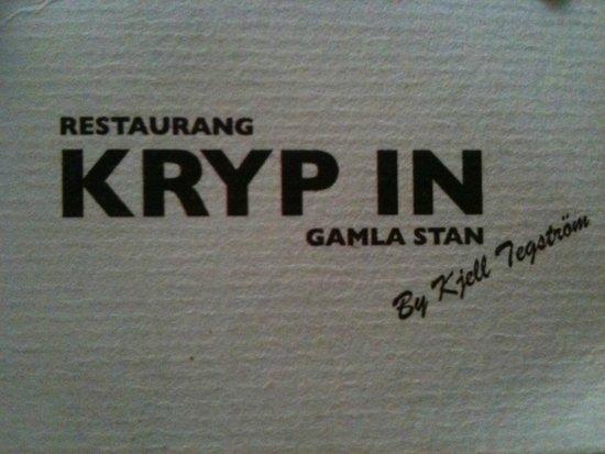 Restaurang Kryp In: tarjeta