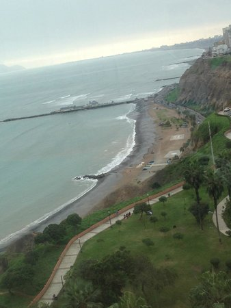 "Belmond Miraflores Park: View from the rooftop pool area…""June gloom"" typical"