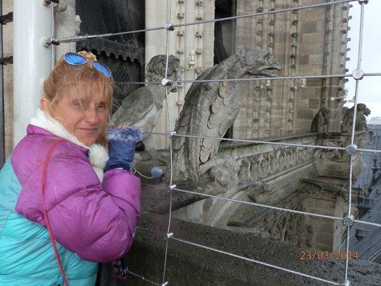 Tours de la Cathedrale Notre-Dame : mucho frió en Notre Dame
