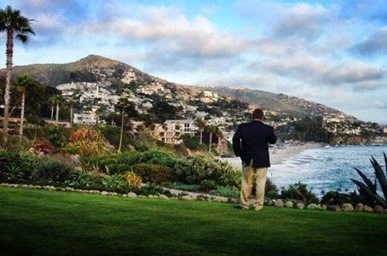 Montage Laguna Beach: My hubby & Laguna Vistas