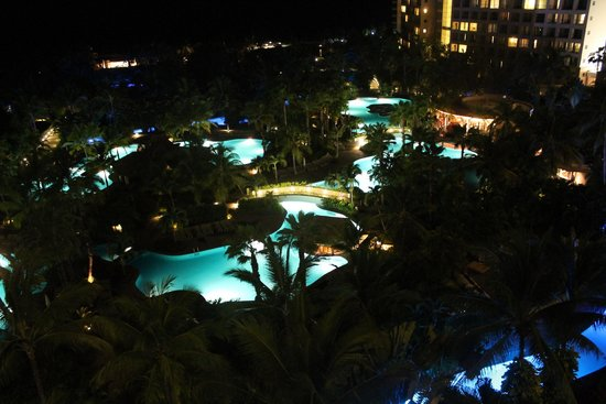 The Grand Mayan Nuevo Vallarta : Night Shot of Pool
