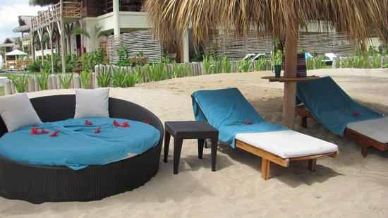 Zoetry Agua Punta Cana : Our palapa set-up - thanks Junior!