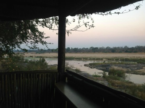 Ngwenya Lodge: View from hide