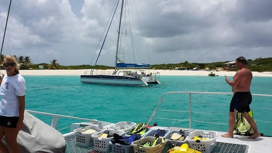 Simpson Bay, St. Martin/St. Maarten: Just before getting your gear on to snorkel