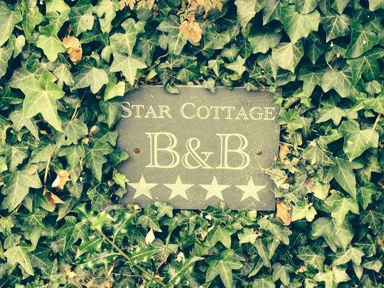 Star cottage sign