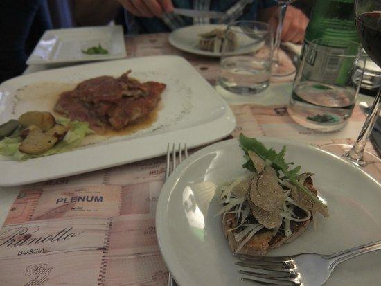 Osteria Barberini: Bruschetta + Saltimbocca